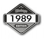VIntage Edition 1989 Classic Retro Cafe Racer Design External Vinyl Car Motorcyle Sticker 85x70mm